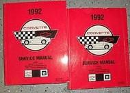 1992 Chevrolet Chevy CORVETTE Service Repair Workshop Shop Manual SET FACTORY GM