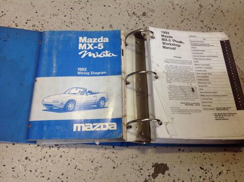 1992 Mazda Miata Mx5 Mx 5 Service Repair Shop Workshop Manual Set W Ewd Oem