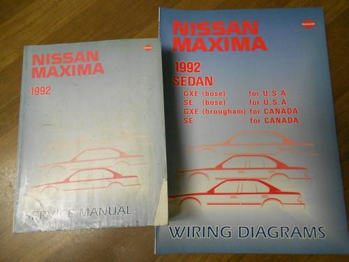 1992 Nissan Maxima Service Repair Shop Manual Set Factory