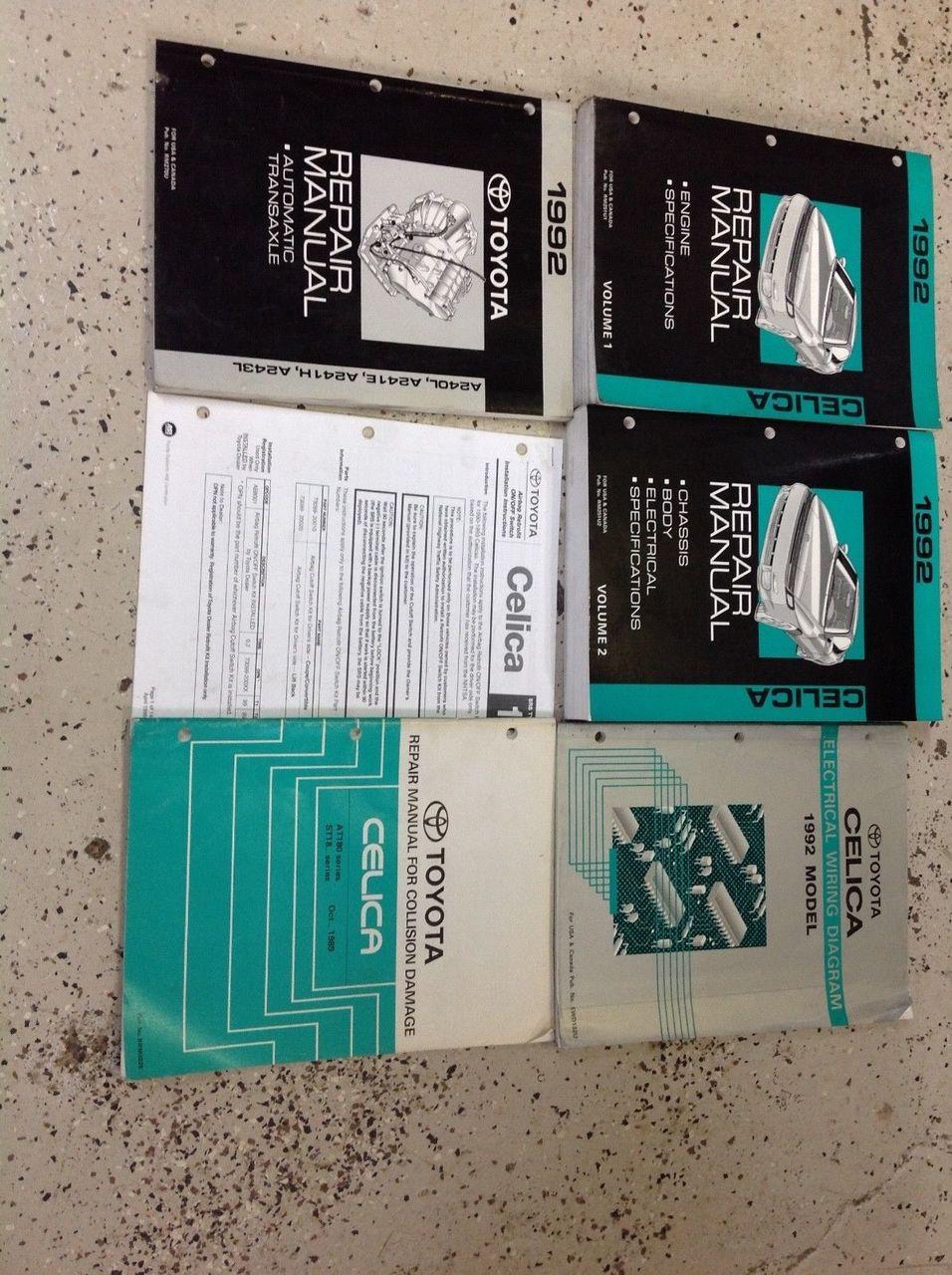 1992 Toyota Celica Service Repair Shop Workshop Manual Set