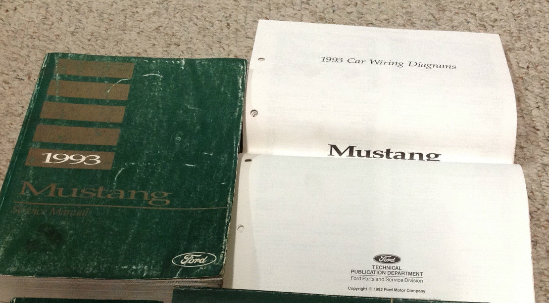 1993 Ford Mustang Service Shop Repair Manual Set W Fold