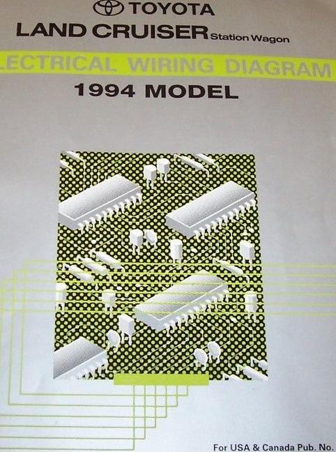 1994 TOYOTA LAND CRUISER Electrical Wiring Diagram ...