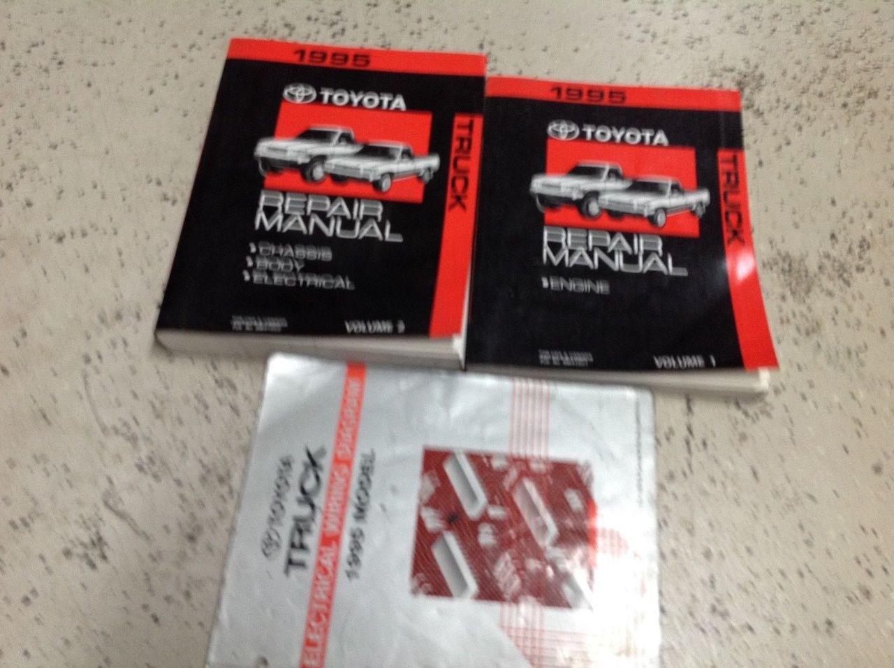 1995 Toyota Truck Pick Up Service Repair Shop Workshop Manual Set Oem W Ewd