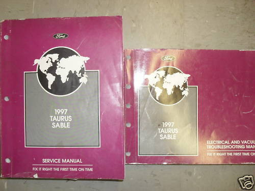 1997 Ford Taurus Mercury Sable Service Shop Repair Workshop Manual Set Evtm Oem