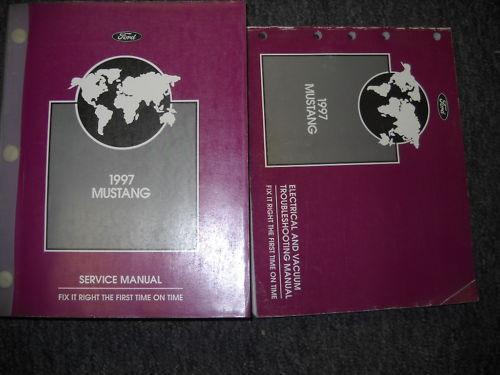 1997 Ford Mustang Gt Cobra Service Repair Workshop Shop Manual Set Oem W Evtm