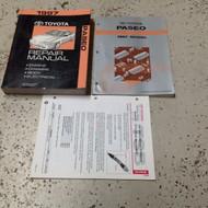 1997 TOYOTA PASEO Service Shop Repair Manual Set OEM W EWD + Bulletin PG