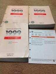 1999 Chevrolet Chevy CORVETTE Service Workshop Shop Repair Manual Set OEM GM W B