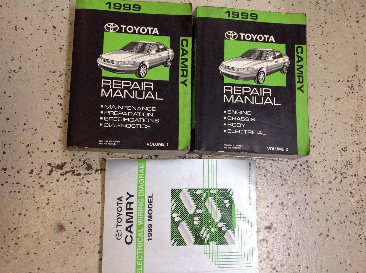 1999 Toyota Camry Service Shop Repair Workshop Manual Set