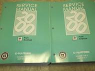 2000 GM Buick PARK AVENUE Service Repair Shop Workshop Manual Set OEM FACTORY