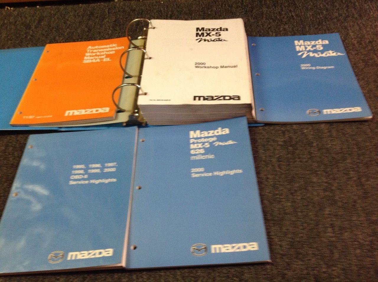 2000 Mazda Miata Mx5 Mx 5 Service Repair Shop Manual Set W