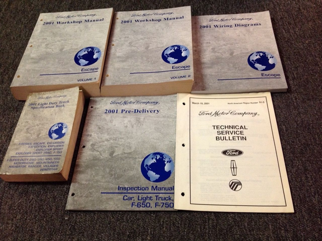 2001 Ford Escape Service Shop Repair Workshop Manual Set Oem W Ewd   Much More
