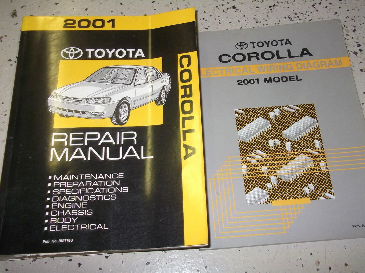 2001 Toyota Corolla Service Repair Shop Workshop Manual Set W Ewd Factory