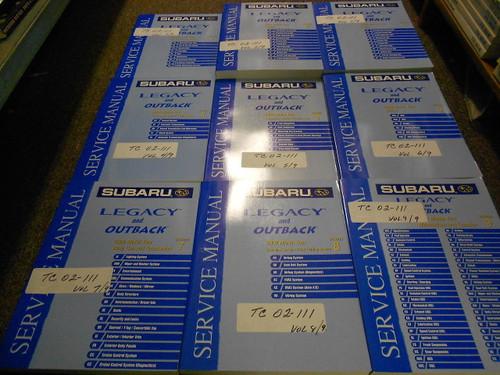 2002 Subaru Legacy Outback Service Workshop Repair Shop