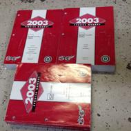 2003 Chevrolet Chevy Corvette Service Shop Workshop Repair Manual Set FACTORY GM