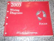 2003 FORD FOCUS Electrical Wiring Diagram Troubleshooting Manual EWD ETM