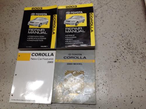 2003 Toyota Corolla Service Repair Workshop Shop Manual