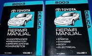 2003 TOYOTA CELICA Service Repair Shop Workshop Manual Set NEW