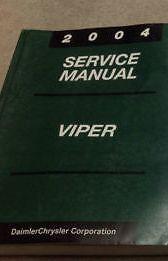 2004 Dodge Viper Service Shop Workshop Repair Manual OEM Factory