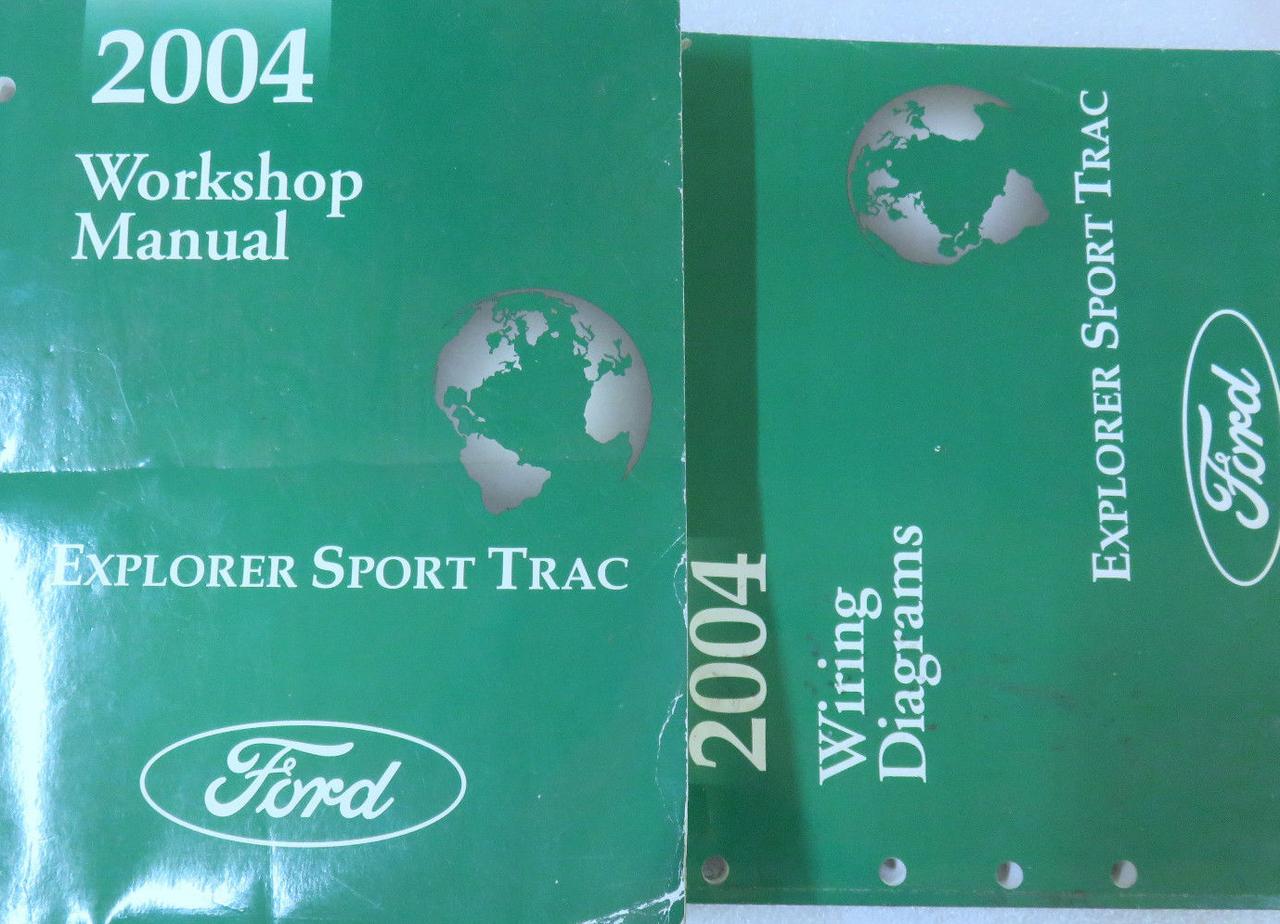 2004 Ford Explorer Sport Trac Service Shop Workshop Repair Manual Oem Set W Ewd