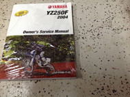 2004 Yamaha YZ250F Owners Service Repair Shop Workshop Manual FACTORY NEW