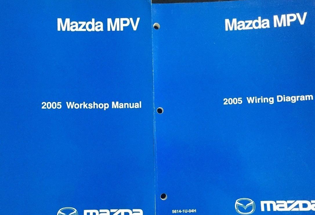 2005 Mazda Mpv Van Service Repair Shop Manual Set Factory