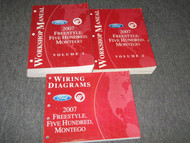 2007 FORD FREESTYLE FIVE HUNDRED 500 MONTEGO Service Shop Manual Set of 4 W PCED