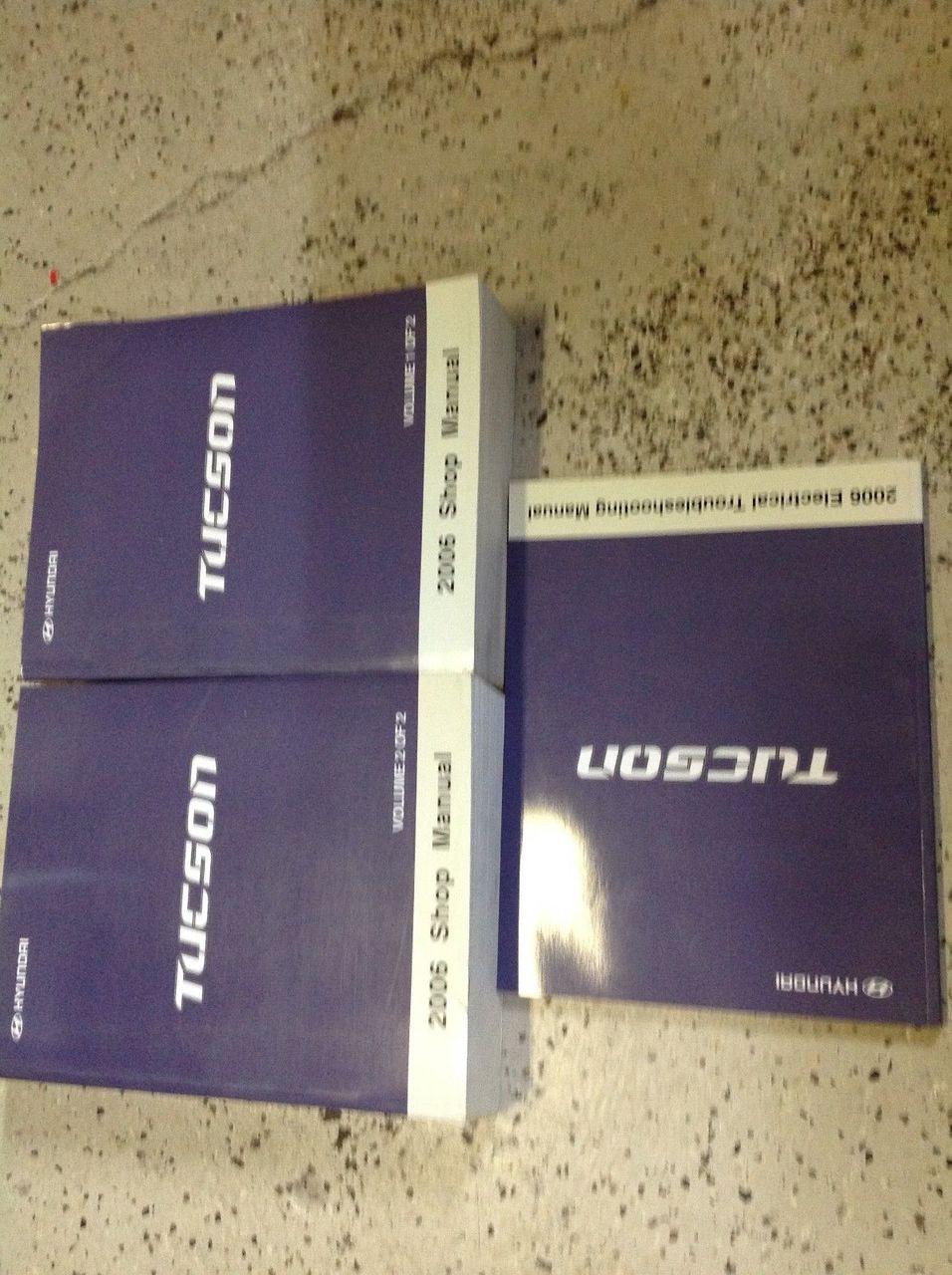 2006 Hyundai Tucson Service Repair Workshop Shop Manual Set Factory W Etm Oem