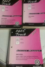 2007 GMC Chevy Truck Topkick Kodiak Diesel Shop Service Repair Manual Set OEM