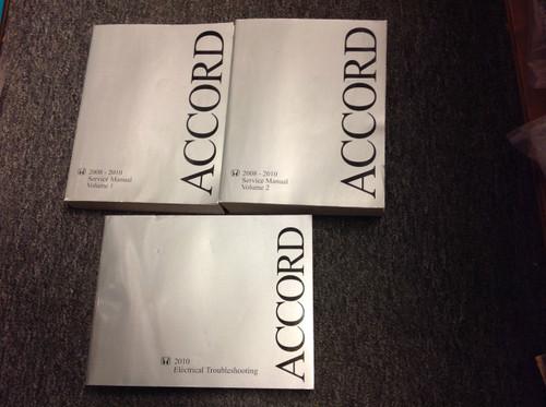 2008 2009 2010 Honda Accord Service Shop Repair Manual Set