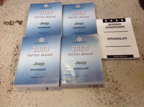 2008 Jeep Wrangler Service Shop Repair Workshop Manual Set