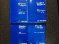 2008 Mazda Tribute Service Repair Workshop Shop Manual Set W EWD + Highlights