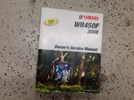 2008 Yamaha WR450F WR 450 F Repair Shop Workshop Service Shop Manual OEM