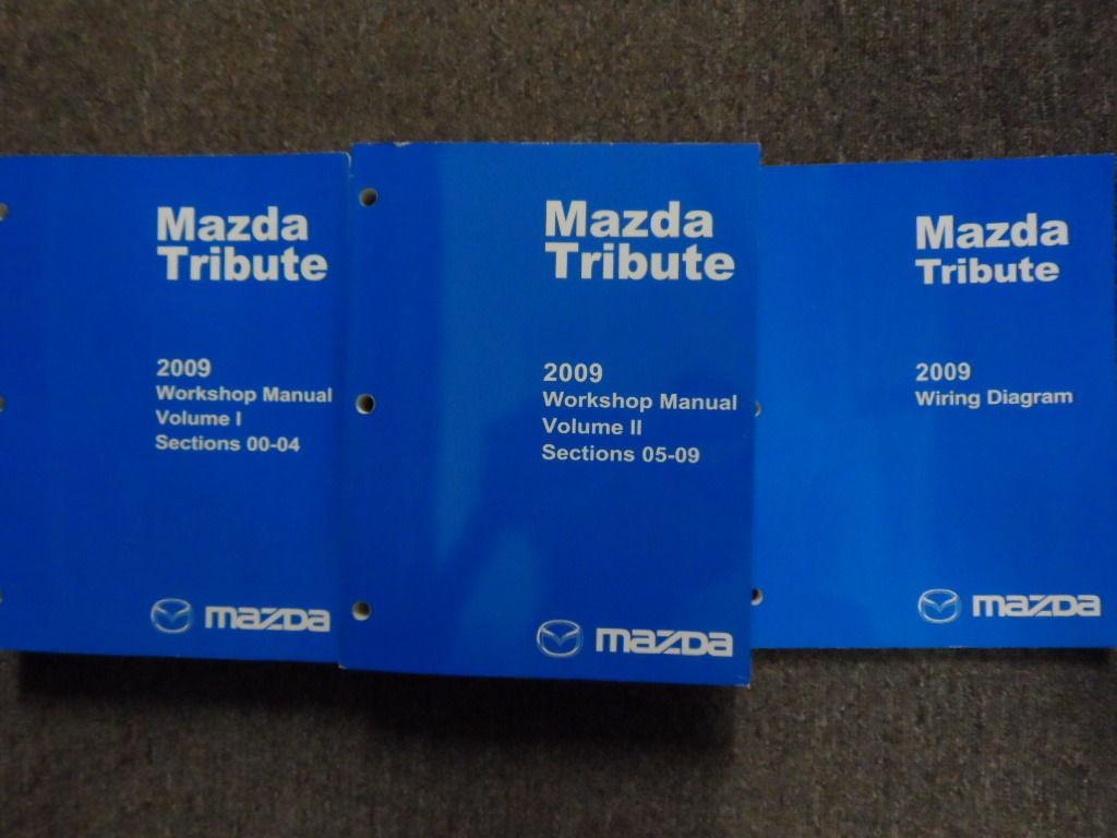 2009 Mazda Tribute Service Repair Shop Manual Set W Wiring