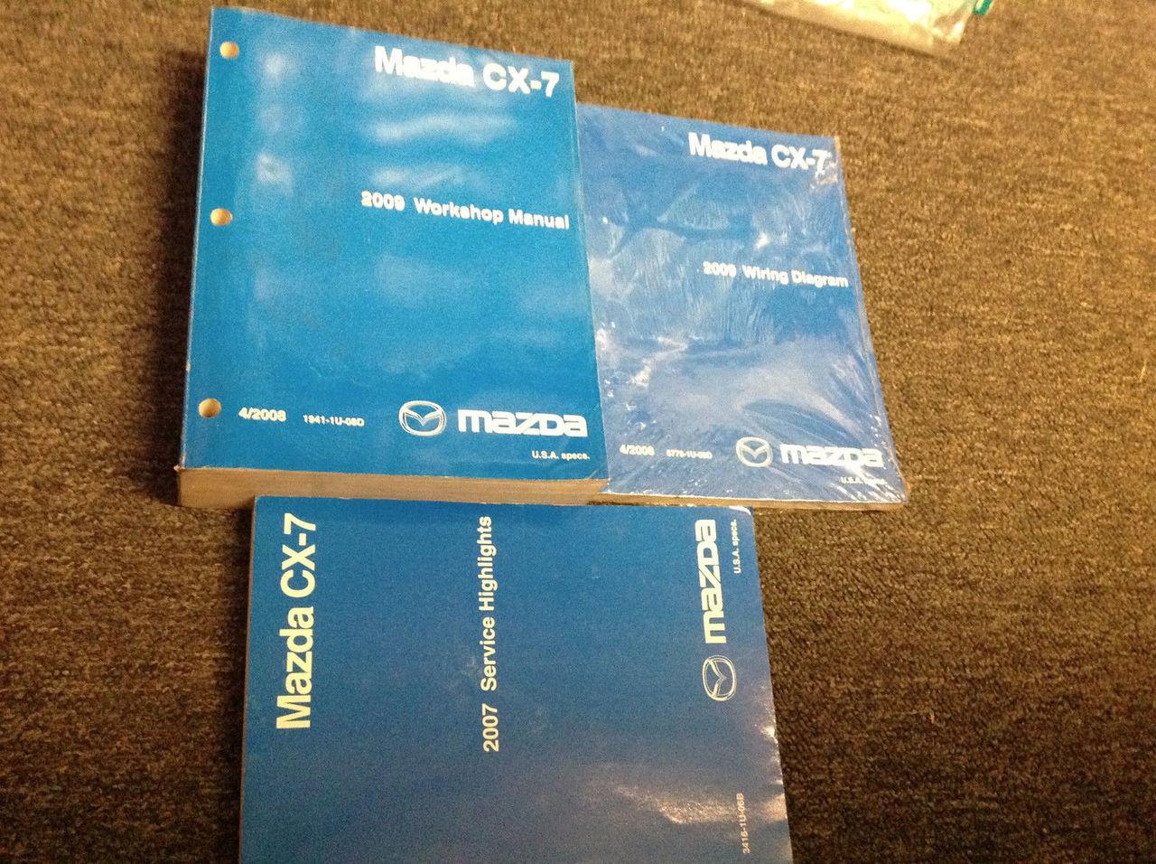 2009 Mazda Cx7 Cx-7 Service Shop Repair Workshop Manual Set Oem W Ewd  U0026 Highligh