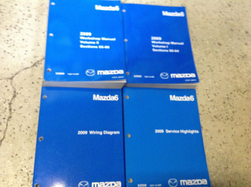 2009 Mazda Mazda6 Service Repair Workshop Shop Manual Set