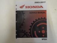 2013 2014 2015 2016 2017 Honda NPS50 RUCKUS Service Shop Repair Manual NEW