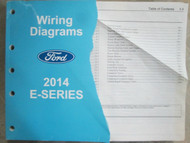 2014 FORD E SERIES ECONOLINE Electrical Wiring Diagram Manual OEM 2014 DAMAGED
