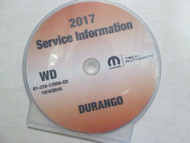 2017 DODGE DURANGO Workshop Service INFORMATION Shop Repair Manual CD NEW