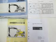 Volvo Construction Equipment EW180B Parts Catalog Manual Set WORN FACTORY OEM