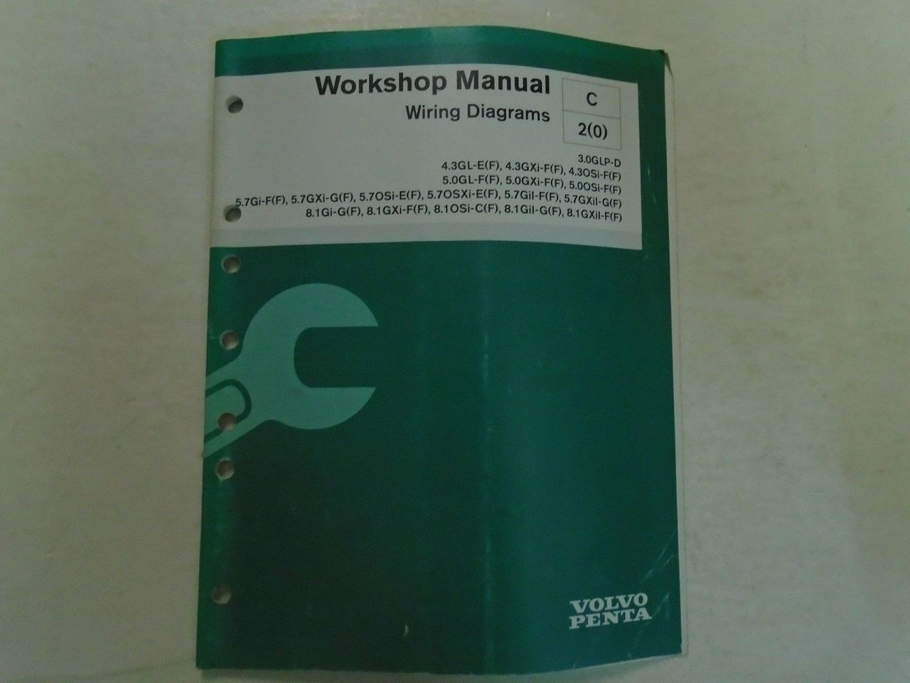 Volvo Penta Workshop Manual Wiring Diagrams C2 0  7745609 11-2005 Boat Oem