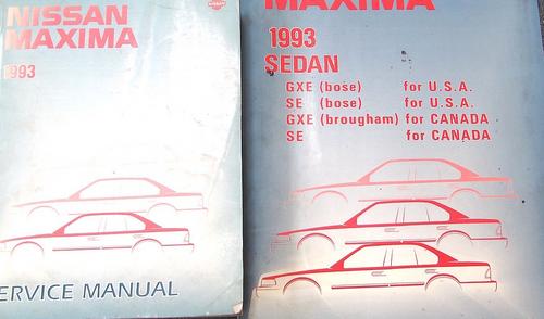1993 Nissan Maxima Service Repair Shop Workshop Manual Set