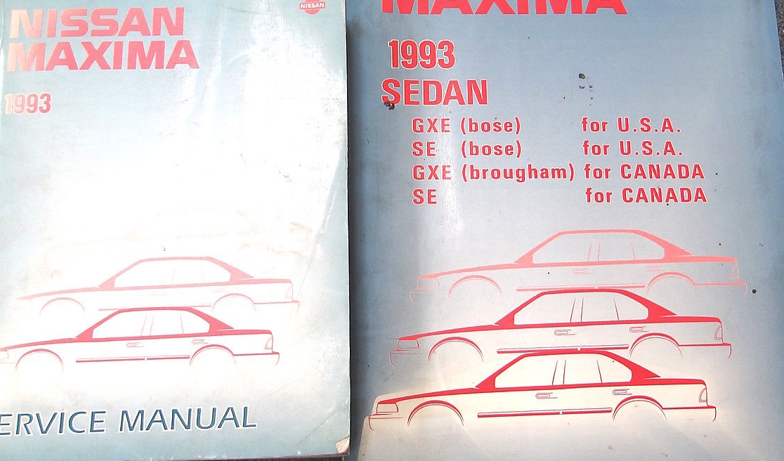 1993 Nissan Maxima Service Repair Shop Workshop Manual Set
