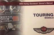 2003 Harley Davidson Touring Owners Operators Owner Manual FACTORY NEW 2003