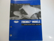 2006 Buell Firebolt Models Parts Catalog Manual FACTORY OEM BOOK USED 06