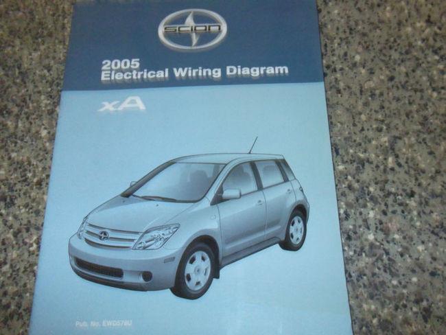 2005 Toyota Scion Xa Electrical Wiring Diagram Service Shop Repair Manual Ewd