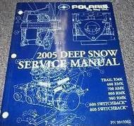 2005 Polaris DEEP SNOW 600 700 800 900 Service Shop Repair Manual NEW FACTORY x