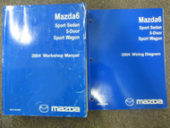 2004 Mazda6 5 door Sport Wagon Service Repair Shop Manual SET FACTORY OEM x