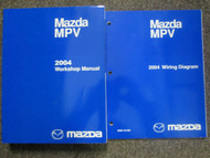 2004 Mazda MPV Van Service Repair Shop Manual 2 Volume SET FACTORY OEM BOOKS x