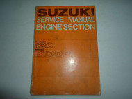 1967 Suzuki 120 B100P Engine Section Service Repair Shop Manual DAMAGED STAINED