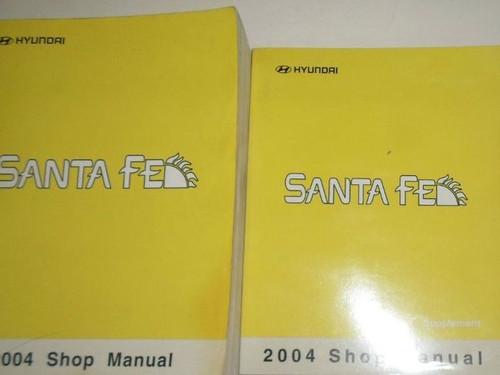 2004 Hyundai Santa Fe Service Repair Shop Workshop Manual